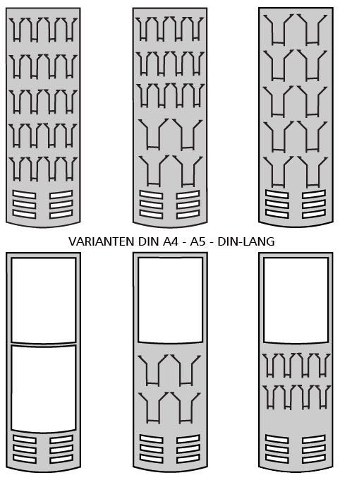 Prospektfach Varianten